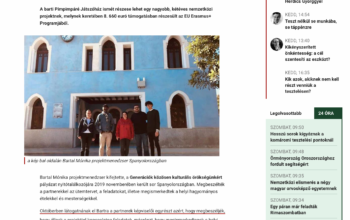 Article of the project in Slovakian newspaper.